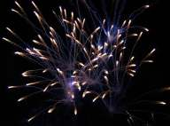 fireworks at wedding reception